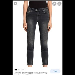 All saints womens biker crop denim. Size 27